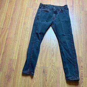 Levi's 512 Slim Taper Fit Black Stretch Jeans 30